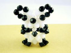 Panda Bear Figurine by SmileykitCreations on Etsy, $32.00
