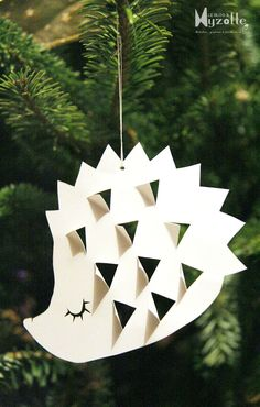 herisson hedgehog craft, paper ornaments, paper trees, christmas trees