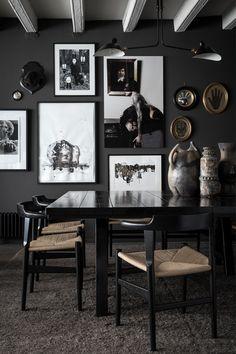art on black wall