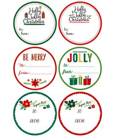 Free Printable Christmas Label Templates by @Angie Wimberly Sandy Design & Illustration  in a whimsical design