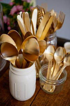 Gold flatware at Poppy's Catering / Matchbook Magazine / May 2014