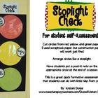 Stoplight Check for Student Self-assessment