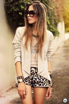 hair colors, leopard short, summer fashions, blazer, anim print, fall outfits, animal prints, little animals, leopard prints