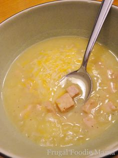 Frugal Foodie Mama: Super Simple Potato Ham Chowder