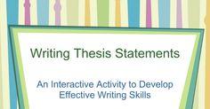 develop thesis statement dbq