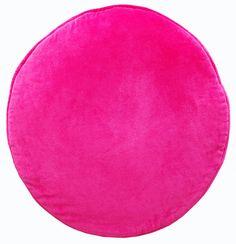 Circular Velvet Round Cushion - Fuschia Pink - YES PLEASE!
