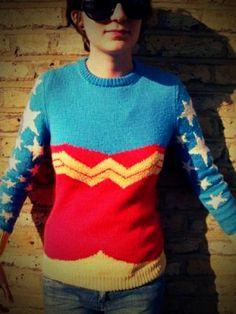 Wonder Woman sweater... OMG