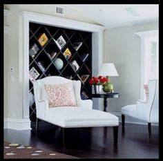 Diagonal shelves from the Home Depot commercial. I cannot wait to have this in my future home!