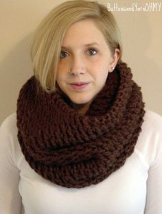 Brown Hooded Cowl hand knit cowl by ButtonsandYarnOhMy on Etsy, $50.00