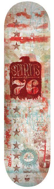 Spirits of 76 Skate deck.