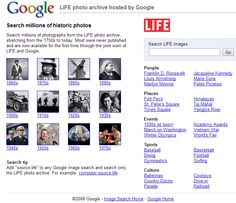 Search millions of photographs from the LIFE photo archive, stretching from the 1750s to today.