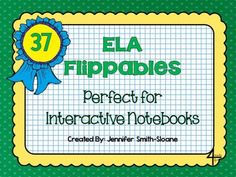 ELA Flippables for Interactive Notebooks from 4mulaFun on TeachersNotebook.com -  (41 pages)  - English Language Arts and Reading Flippables- Perfect for Interactive Notebooks (Grades 2nd-12th)