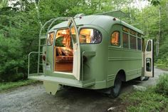 1959 Chevrolet Viking Short Bus  Renovated To Charming Mobile Family Guest Room. See before/after and inside views.