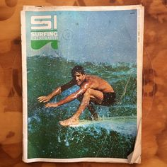 Jeff Hakman smiling at photographer Doc Don James for the June 1965 cover of Surfing Illustrated.