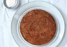 gluten free!  Brown Butter–Polenta Cake with Maple Caramel - Bon Appétit