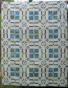 Flowers in My Windows Free quilt pattern