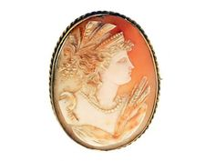 Victorian Neo-Classical Cameo Brooch - Demeter - goddess of the harvest
