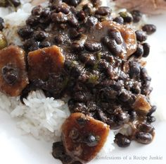 Dominican Style Black Beans! With my mothers Sazon recipe