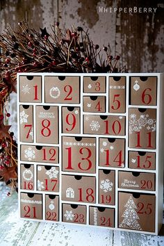 Christmas Advent Calendar--I like the varying sizes of box.