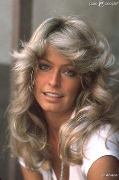 Farrah Fawcett.  I styled my hair like hers.  :)
