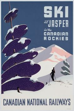 Poster advertising the Canadian Ski Resort Jasper  by The Fine Art Masters