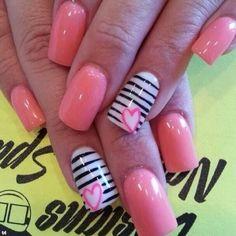 sexy nail design, valentine day, inspir design, nail designs, nail arts, diy nail, beauti, 20 inspir, stripe