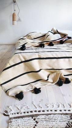 Relaxing bed on floor