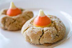 Candy Corn Kiss Cookies ~ Halloween delic food, candi corn, salad recip, banana recip, candy corn, candies, kiss cooki, cookies, pizza recip