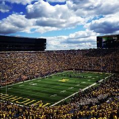 There's no better place than the Big House to spend football Saturdays. Get a picture by the big Block M!