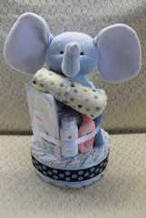 I love this idea of a diaper cake for baby showers