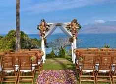 Perfect #chuppah to go with this Ocean View of Andaz Maui At Wailea www.themodernjewishwedding.com