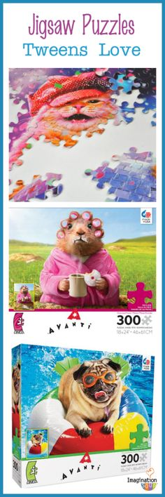 jigsaw puzzles that 9 - 12 year olds love - great for hot or rainy inside days!