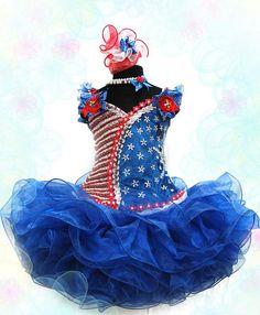 Red amp white national winning pageant angie payne glitz dress sz 18m 3t