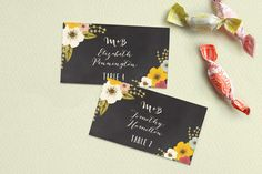 Plentiful Blossoms Place Cards by Faiths Designs at minted.com
