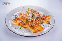 Mario Batali's Ricotta and Swiss Chard Ravioli recipe. #thechew