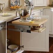 kitchen aid mixer, kitchen storage, mixer storag, mixer cabinet, thomasvill cabinetri