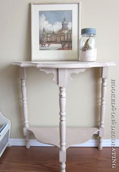 Table Redo with milk paint