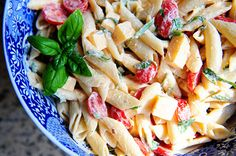 Spicy Pasta Salad with Smoked Gouda, Tomatoes and Basil - by Pioneer Woman