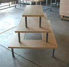 Tiered Retail Display Table - create using Ikea LACK tables?