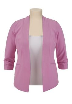3/4 Sleeve Boyfriend Blazer available at #Maurices