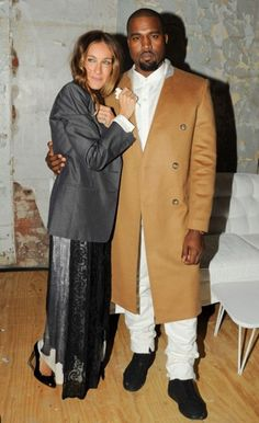 SJP and Kanye hugging it out at last night's Maison Martin Margiela gathering.