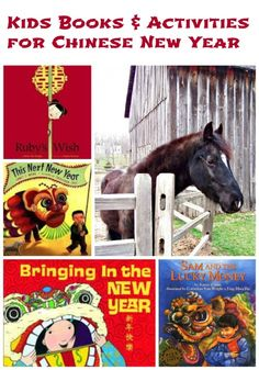 Great books & activities that celebrate Chinese New Year for the kids!  It's a great way to introduce them to new cultures and customs.