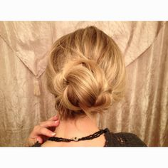 Hair by Lyn, simple updo