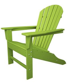 POLYWOOD® South Beach Adirondack Lime Chair
