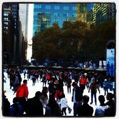 Skaters at Bryant Park. November 2012. Copyright © 2012 Jacqui Barrineau