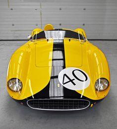 classic yellow car