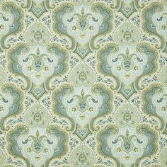 Add a lively and refreshing touch of emerald with Fabricut's Coombs pattern in Caribbean.