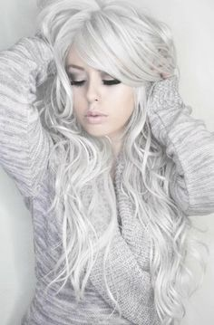 When silver hair is done right, it is fantastic.  As in this photo.  Love the hair, the makeup, the total look.  Most Popular Photos | Beautylish