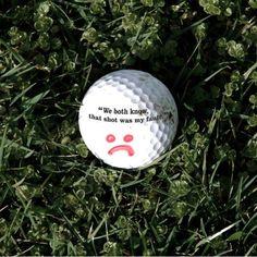 Self Deprecating Golf Balls