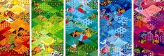 The Olympics in Sochi are using a patchwork image for their theme! Isn't it wonderful?